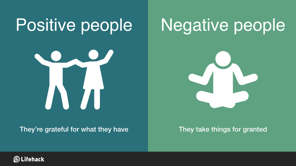 how to live a positive life in a negative world